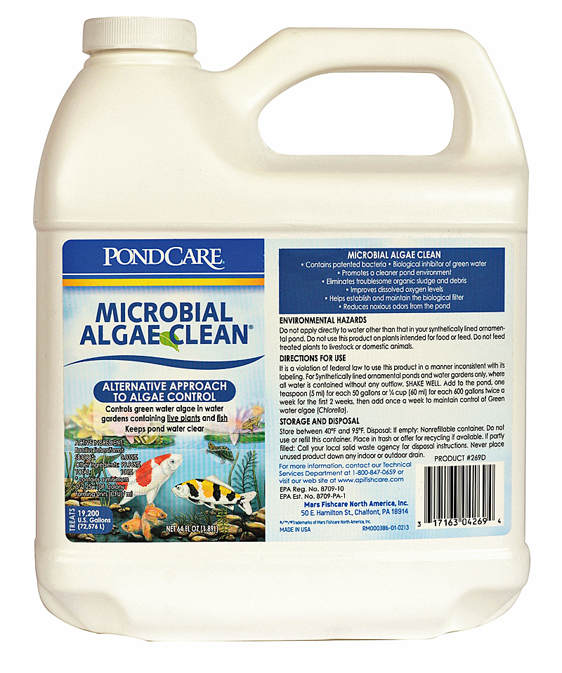 Pond Care Natural Microbial Algae Control 64oz, treats 19,200 gal EPA Registered