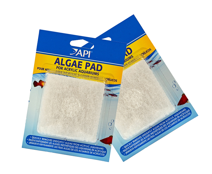 Cleaning & Maintenance Fish & Aquariums Api Hand Held Algae Pad For Glass Aquariums