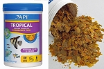 API Tropical Fish Flake Food 5.7 oz canister for angelfish, discus, barbs, guppies
