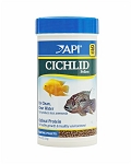 API Cichlid Pellets Small Floating 4.2oz complete and balanced diet w/shrimp & fish protein