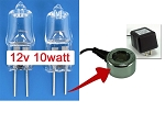 Mini-Light Halogen Bulbs 12v10w/9v6w 2 pack fits many 5&10 watt lights