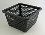 RENA OEM Aquatic Plant Basket 1ea 10x10x6 high w/feet fine weave mesh
