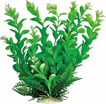 Leafy Faux Aquarium Plant 9in Green/Dark Green Recommended Background Plant