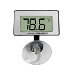 Aquarium Thermometer Digital Submersible with Large Display Compact Design