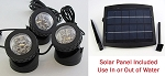 Rena OEM Solar LED Light 3pack w/Solar Panel Pond/Fountain/Landscape FREE SHIPPING
