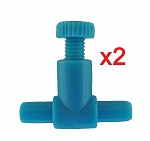 Airline Tubing Flow Control Valve (2 pack) fits standard airline tubing