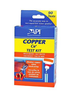 API Copper Test Kit FW/SW/Ponds 90 Tests Monitor Copper when Medicating