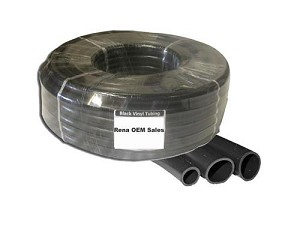 "Blk Vinyl Tubing 1/4""id x 3/8""od 15 ft for OEM, Pond Aeration, Small Fountains"