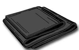 Rubber Pond Liner EPDM 45mil. 10'x10' Fish and Plant Safe Easy Install Puncture Resistant