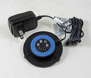 LED Submersible Light w/air bubbles R,G,B,V,Y rotataing add your own pump