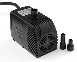 Water Pump for Fountain/Aquarium/OEM w/prefilter 160gph, 4.3ft lift, 6ft crd, UL