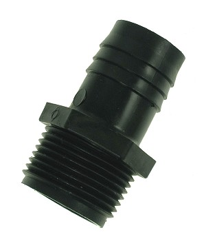 "3/4"" M threaded x 3/4"" barb connect to pump outlet or threaded pipe"